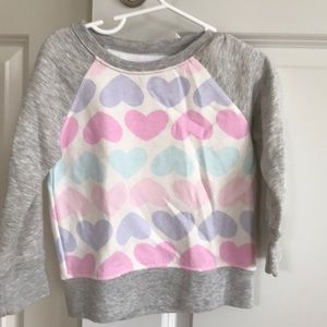 Children's place heart sweatshirt